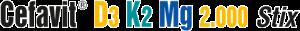Cefavit D3K2Mg Schriftzug