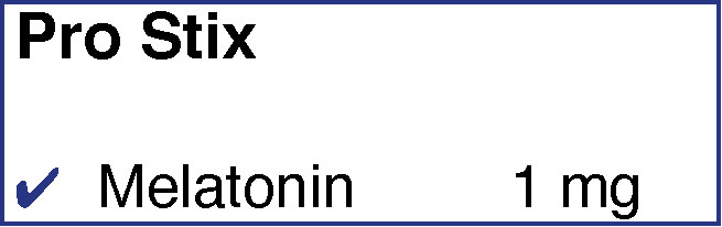Inhaltsstoff Melatonin